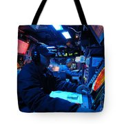 Operations Specialist Stands Watch Tote Bag by Stocktrek Images