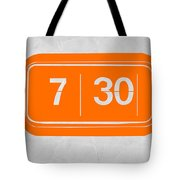 Orange Alarm Tote Bag
