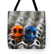 Orange And Blue Tote Bag