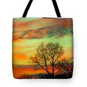Orange And Blue Sky Tote Bag
