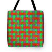 Orange And Green Basketweave Tote Bag