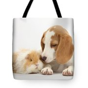 Orange-and-white Beagle Pup And Alpaca Tote Bag
