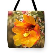 Orange And Yellow Cactus Flower Tote Bag