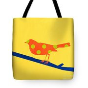 Orange Bird Tote Bag