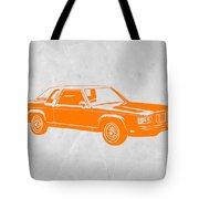 Orange Car Tote Bag by Naxart Studio