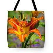 Orange Day Lily Tote Bag