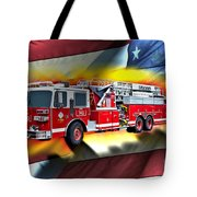 Orange Fire Auth T43 Tote Bag