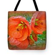 Orange Hibiscus Flowers Tote Bag