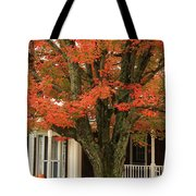 Orange Leaves And Pumpkins Tote Bag