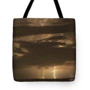 Orange Lightning Tote Bag