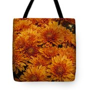 Orange Mums Tote Bag