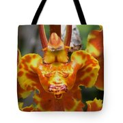 Orange Orchid Clown Tote Bag