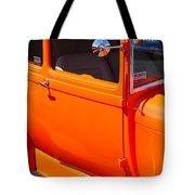 Orange Passenger Door Tote Bag