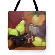 Orange Pears Tote Bag by Lilibeth Andre