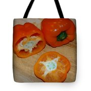 Orange Peppers Tote Bag