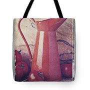 Orange Pitcher And Tomatoes Tote Bag