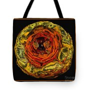 Orange Ranunculus With A Chrome Effect Tote Bag