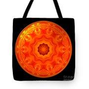 Orange Rose Kaleidoscope Under Glass Tote Bag