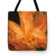 Orange Ruffles Tote Bag