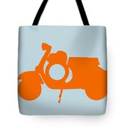 Orange Scooter Tote Bag