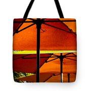 Orange Sliced Umbrellas Tote Bag
