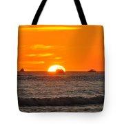 Orange Sunset V Tote Bag