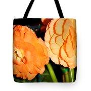 Orange Tuberous Begonias Tote Bag