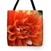 Orange Vanilla Dahlia Tote Bag