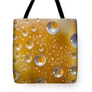Orange Water Drops Tote Bag