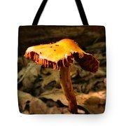 Orange Wild Mushroom Tote Bag