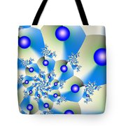 Orbit In Blue Tote Bag