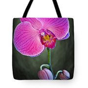 Orchid And Buds Tote Bag