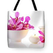 Orchid With Candle Tote Bag