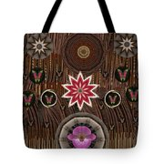 Orchids And Leather Tote Bag