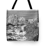 Organ Mountain Wintertime Tote Bag by Jack Pumphrey