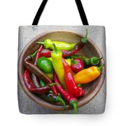 Organic Colorful Peppers Tote Bag