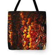 Organically-grown Peppers Are Hung Tote Bag