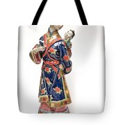 Oriental Lady And Child Tote Bag