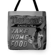 Original Nathan's In Black And White  Tote Bag