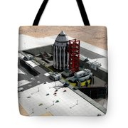 Orion-drive Spacecraft On A Remote Tote Bag by Rhys Taylor