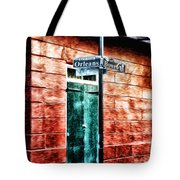 Orleans And Bourbon Streets Tote Bag