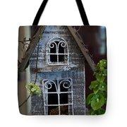Ornamental Bird House Tote Bag