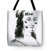 Ornamental Patches On Face, 17th Century Tote Bag