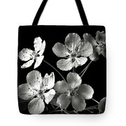 Ornamental Pear In Black And White Tote Bag