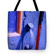 Ornate Blue Handle 2 Tote Bag