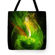 Ornate Emerald Green Drop Tote Bag