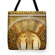 Ornate Mezquita Mihrab In Cordoba Tote Bag