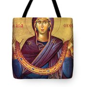 Orthodox Icon Virgin Mary Tote Bag