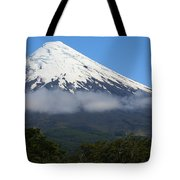 Osorno Volcano Ringed By Clouds Tote Bag