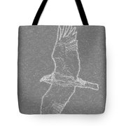 Osprey In Flight Embossed Tote Bag